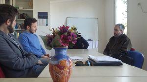 Istituto cultura italiana (NGO)/Articles/Meeting with mr. Francisco Capote Yeregui/Francisco Capote Yeregui, Mattia Baldoni, Gabriele Rota.jpg